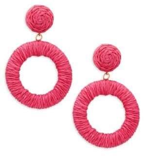 Panacea Rope Circle Drop Earrings