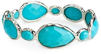 Ippolita Sterling Silver Rock Candy® Large Gelato Bangle in Turquoise