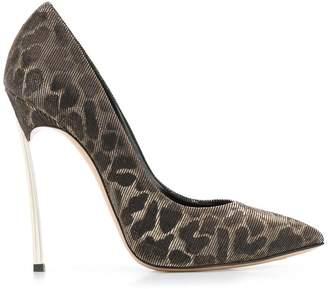 Casadei leopard stiletto pumps
