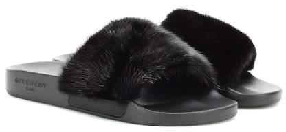 Givenchy Fur slip-on sandals