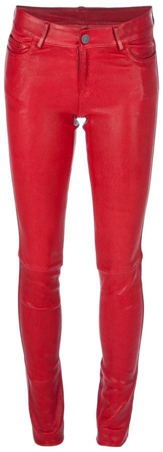 Italia skinny leather trouser