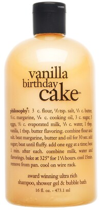At Sephora Philosophy Vanilla Birthday Cake Shampoo Shower Gel Bubble Bath