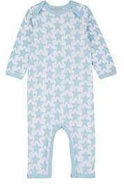 Cocolli COCOLLI INFANTS' STAR-PRINT STRETCH COTTON-BLEND LONG-SLEEVE ROMPER