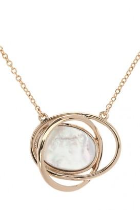 Karen Millen Jewellery Ladies PVD rose plating Rhythmic Oval Stone Pendant KMJ885-22-46
