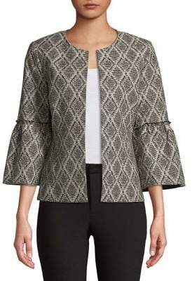Nipon Boutique Bell-Sleeve Geometric Jacket