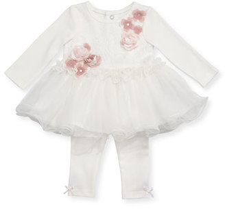 Miniclasix Long-Sleeve Tutu Top w/ Leggings, Size 3-12 Months $72 thestylecure.com