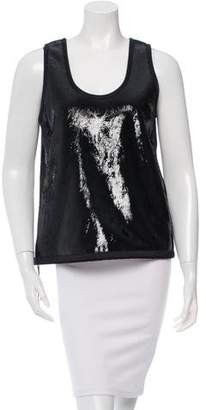 Tom Ford Leather Coated Top w/ Tags