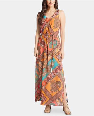 Karen Kane Printed Slit Maxi Dress