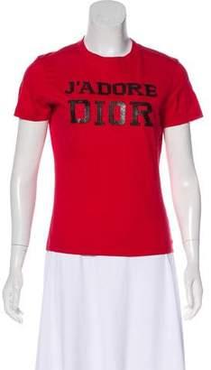Christian Dior Embellished Logo T-Shirt