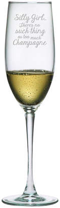 Susquehanna Glass Set Of Two 8Oz Silly Girl Champagne Flutes