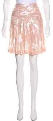 Blumarine Silk Embellished Skirt