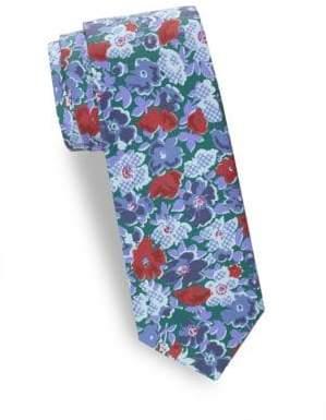 Saks Fifth Avenue Floral Silk Tie