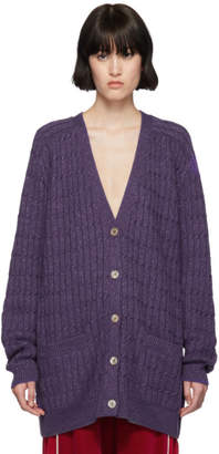 Gucci Purple Lurex Oversized Cardigan