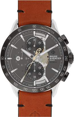 Baume & Mercier Clifton Limited Edition Leather Strap Watch, 44mm