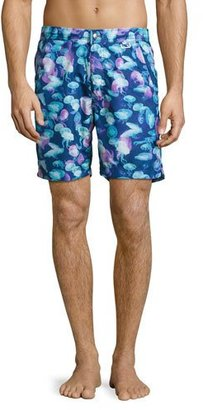 Peter Millar Moon Jellies Swim Trunks, Blue $168 thestylecure.com