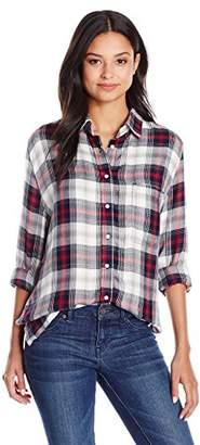 Silver Jeans Women's Boyfriend Shirt With Side Slit