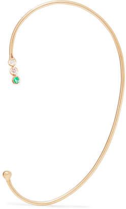 Jennie Kwon Designs - 14-karat Gold, Diamond And Emerald Ear Cuff