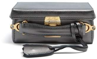 Mark Cross Grace mini saffiano-leather box bag