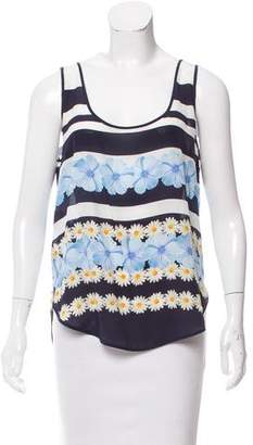 Mother of Pearl Silk Floral Print Top