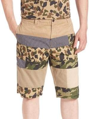 PRPS Pieced Mixed Media Camo Shorts