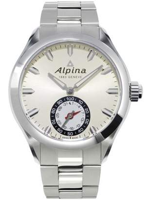 Alpina Horological Smartwatch Mens Date Quartz Light Silver Dial AL-285S5AQ6B