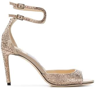 Jimmy Choo Lane crossover ankle strap pumps