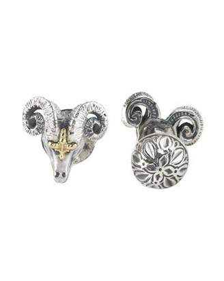Konstantino Sterling Silver & 18K Gold Ram Cuff Links $375 thestylecure.com