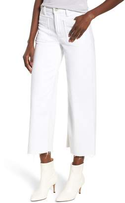 Hudson Jeans Holly High Waist Raw Hem Crop Wide Leg Jeans