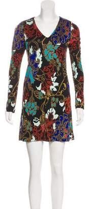 Tibi Silk Jersey Mini Dress