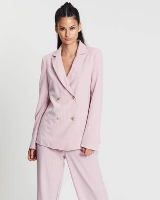 Missguided Check Co-Ord Blazer