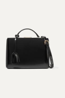 Mark Cross Grace Small Glossed-leather Shoulder Bag - Black