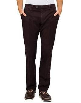 Canali Fl Fr Lyoc/Cott/Elast Twill Plain Trouser