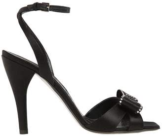 Loewe 100mm Bow Satin Sandals