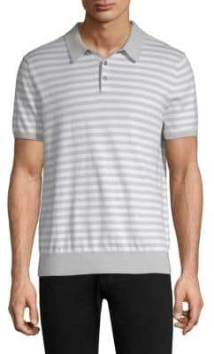 Michael Kors Striped Cotton Polo