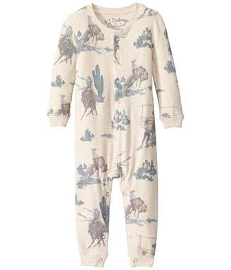 PJ Salvage Kids Wanted Western Peachy Romper (Infant)