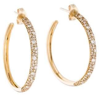 Lana Diamond Flawless Thin Curve Hoop Earrings yellow Diamond Flawless Thin Curve Hoop Earrings