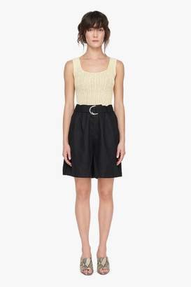 Genuine People Long Linen Belted Shorts