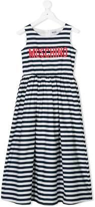 Moschino Kids breton stripe dress