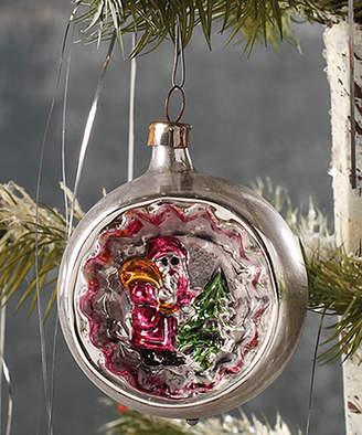 Reflector Santa Ornament