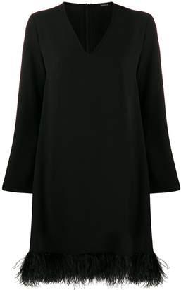 P.A.R.O.S.H. short feather-hem dress