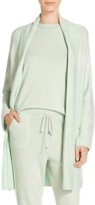 St. John Cashmere Textural Sequin Knit Cardigan