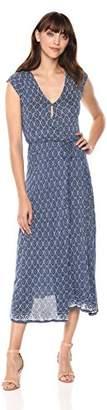 Lucky Brand Women's Border Print Maxi Dress