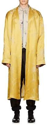 Haider Ackermann Men's Bamboo-Pattern Linen-Silk Jacquard Robe