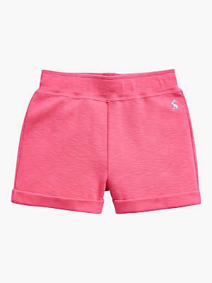 Joules Little Joule Girls' Jersey Shorts, Pink