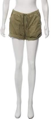 Velvet Tie-Front Mini Shorts