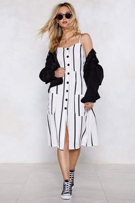 Nasty Gal Bring into Line Striped Dress