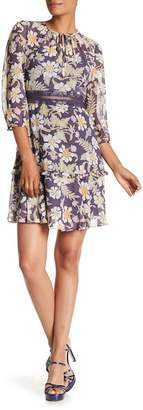 Donna Morgan Printed Chiffon Fit and Flare Dress