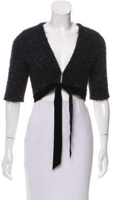 Philosophy di Alberta Ferretti Metallic Wool Shrug