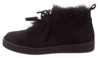 Pedro Garcia Parley Shearling-Lined Sneakers