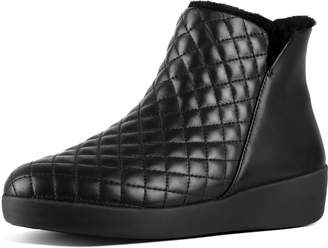 FitFlop Mila Diamond Quilted Faux-Fur Booties
